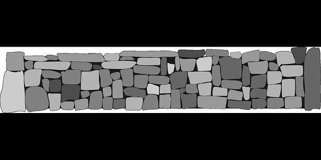 kamenná zeď ilustrace